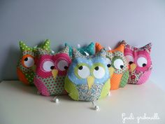coussin hibou musical Guili gribouilli