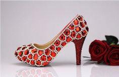 Swarovski Crystal Wedding heels party by luxuryshow2828 on Etsy, $169.00