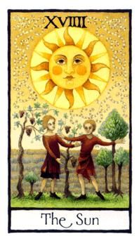 April 26 Tarot Card: The Sun (Old English deck) Vitality! Joy! Expression! You're as free as a bird now