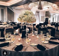 Hilton Downtown Nashville formal centerpiece with white flowers Wedding Reception Decorations, Wedding Themes, Wedding Centerpieces, Wedding Designs, Wedding Table, Wedding Colors, Wedding Events, Wedding Styles, Weddings
