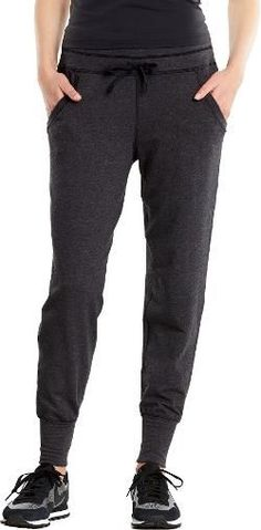 lucy Women's Cool Down Jogger Pants Petite Sizes Lucy Black Heather XS Petite