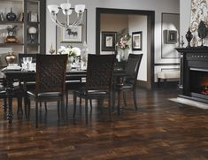 rooms with gray walls and walnut stain by general finishes  | Dark Wood Wall – Wonderful Solid Brown Stain Walnut Dark Wood Floors ...