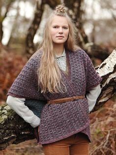 Connemara - Knit this womens slip stitch wrap accessory from Rowans Hemp Tweed, a design by Lisa Richardson using the gorgeous Hemp Tweed (wool and hemp).