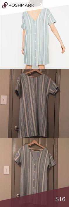 Dress Striped dress with buttons on back Zara Dresses Mini