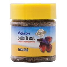 Nutritious and tasty, Aqueon's Betta Treat Bloodworms are a delectable meal for your fish. These high protein, all-natural bloodworms can be fed as snacks or incorporated into your fish's daily diet.