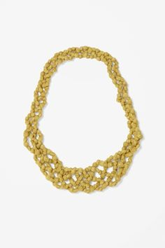 Mesh and bead necklace