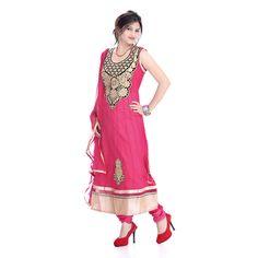 #Returnfavors presenting new #Pink color net cloth #Anarkali #suit http://www.returnfavors.com/net-cloth-pink-color-anarkali-suit-from-returnfavors/
