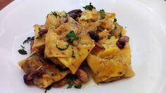 Tortellone en salsa de setas y anchoas – Tortelloni con funghi e acciughe italian food, italian recipes, comida italiana, cocina italiana