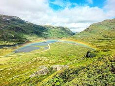Norway is so beautiful. I love the colors in the nature Norway, Golf Courses, Hiking, Rainbow, River, Nature, Outdoor, Beautiful, Colors