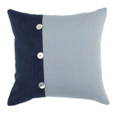 Oxford Sailor Mother of Pearl Buttons 19x19 KE Throw Pillow