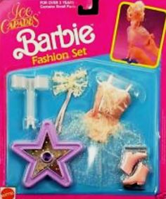 NEW ~ 1991 Barbie Ice Capades Fashion Set GOLD & WHITE #7458