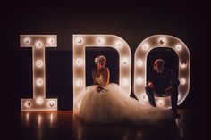 """Spell out a sweet phrase using giant marquee letters, which provide plenty of """"wow"""" factor and have a cool retro vibe."""