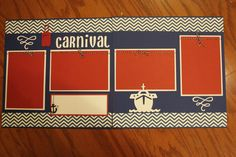 12 x 12 cruise premade scrapbook layout Carnival _______________________ (name your cruise), handmade scrapbook layouts, Carnival cruise by creationsbycindyg on Etsy