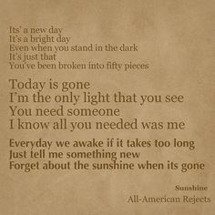 Sunshine by All-American Rejects