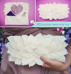 DIY lace clutch tutorial . great bridesmaid gift idea