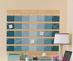 How to Make a Chalkboard Wall Calendar | Midwest Living