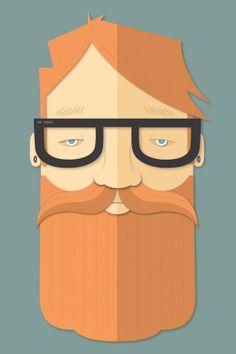 Beard by Nicole Standard, via Behance