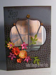 Valita's Designs & Fresh Folds: Indian Inspired Lattice card