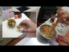 Miniature Food: Lumpiang Toge/Spring rolls bean sprouts w/ tofu (mini food) (kids toys channel) - YouTube