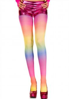 10.88$  Buy here - http://virzj.justgood.pw/vig/item.php?t=ils26j911207 - Women's One Size Multi Color Rainbow Pantyhose