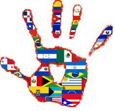 In 1968 President Johnson established National Hispanic Heritage Week to recognize and celebrate the cultures of Mexico, Spain, the Caribbean, and Spanish-speaking regions and countries of Central and South America. Learn Spanish Online, How To Speak Spanish, Hispanic Flags, Hispanic Countries, Hispanic Culture, Spanish Speaking Countries, Hispanic Heritage Month, Culture Shock, Culture Club