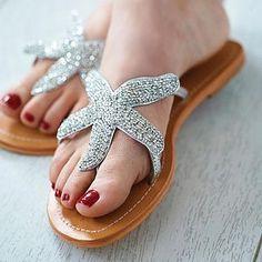 "Beaded Starfish Sandals - Under ""Holiday Shop"" - $139.33 + $13 Ship  -  www.NotOnTheHighStreet.com  (05.07.14)"