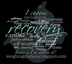 Weighing The Facts: Recovery Inspiration: I Choose Recovery