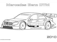 Mercedes-Benz DTM de 2010 Dibujo para colorear. Categorías: Carreras de coches. Páginas para imprimir y colorear gratis de una gran variedad de temas, que puedes imprimir y colorear.