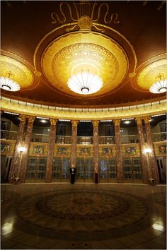 Lobby, Severance Hall, Cleveland, Ohio My great grand father Harry Weeks owned the firm that designed Severance Hall.