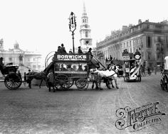 Trafalgar Square from The Francis Frith Collection Victorian Life, Victorian London, Vintage London, Old London, London Bus, London Life, London Street, London Pictures, London Photos