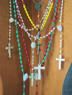 Vintage Collection of Plastic Rosaries - Vintage Religion