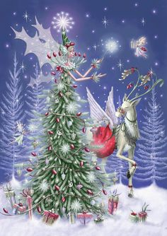 Tree Fairy & Reindeer Charity Pack - The Paper D'Art Shop