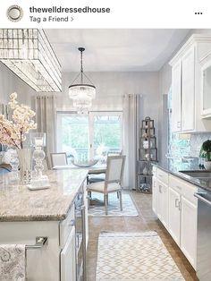 Kitchen Lighting Remodel lighting-- light and bright Kitchen Dinning, Home Decor Kitchen, New Kitchen, Home Kitchens, Kitchen Design, Dining Area, Home Design, Interior Design, Room Interior