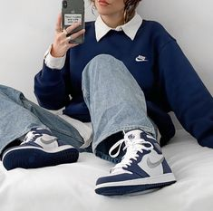 Indie Outfits, Teen Fashion Outfits, Retro Outfits, Cute Casual Outfits, Vintage Outfits, Girl Outfits, Casual Shoes, Tomboy Fashion, Streetwear Fashion