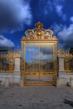 Versailles Gate, Paris so much more beautiful in person!!! Taylor and I loved it and can't wait to go back!!