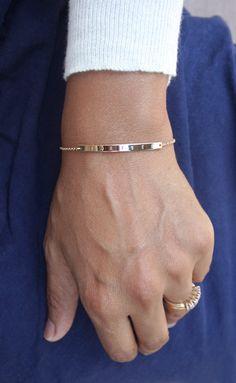 Gold bar armband / gepersonaliseerde bar armband / door shopLUCA