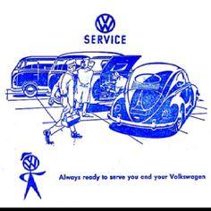 Vintage VW advertising