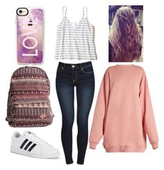 """school"" by eduardacardosogassen on Polyvore featuring Hollister Co., Acne Studios, adidas, Billabong and Casetify"