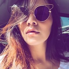 Tina Leung wearing one of the newest frames by DITA Eyewear, the Believer