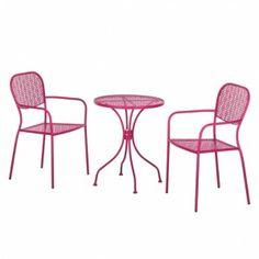 Balkonset Fleury (3-teilig) - Metall Rosa