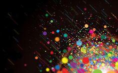 Cool Abstract HD Wallpaper Rainbow Rain
