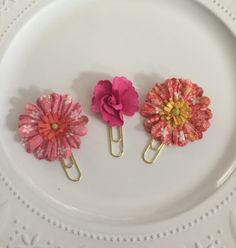 Multi-Color Floral Planner Clip Sets by BookmarkBitches on Etsy