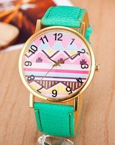 Aztec Dial Green Wrist Watch greenWSTS459