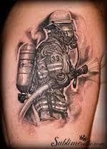 Resultado de imagem para trash polka fireman tattoo