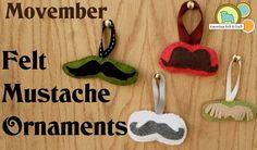 Free pattern: Felt mustache Christmas ornaments