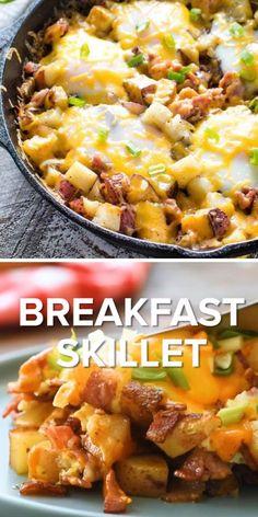 Potato And Egg Breakfast, Breakfast For Dinner, Breakfast Dishes, Breakfast Recipes, Breakfast Skillet, Healthy Breakfast Potatoes, Grill Breakfast, Egg Recipes For Dinner, Brunch Recipes