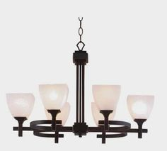 Hunter Lighting Omega Oil Rubbed Bronze Contemporary 6 Light Chandelier Dining Room