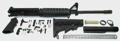 7.62x39 AR15 Rifle Kit With A2 Sight Tower NO Lower Receiver 16″ M4 Feed Ramp Nitride 1×10 (NO Lower