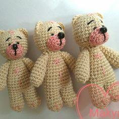 MAKYA #crochet brooch #handmade Bear