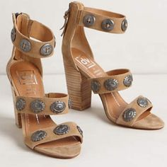 35ba27bf4aa8 Dolce Vita x Vanessa Mooney concho sandal Worn twice. 3.5 inch heel. Sold  out · Womens FlatsCrazy ShoesMe ...
